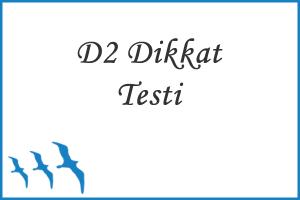 D2 Dikkat Testi